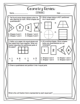 3rd Grade Common Core Math Test Prep - Geometry