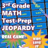 3rd Grade Common Core Math-Test Prep Jeopardy (CAASPP, Smarter Balanced)