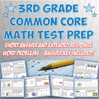 3rd Grade Common Core Aligned Math Test Prep Packet with Answer Key