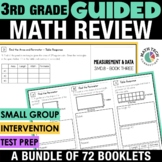 3rd Grade Guided Math | 3rd Grade Math Review Distance Learning Packet