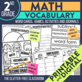 3rd Grade Common Core Math Vocabulary Packet: Journal, Games & Activities