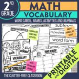 Math Vocabulary THIRD GRADE Games | Journal | Activities