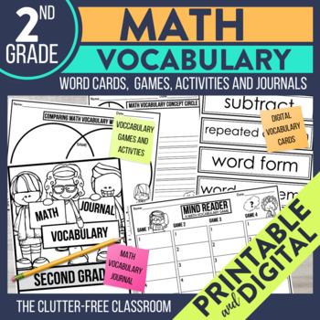 Math Vocabulary Template Teaching Resources | Teachers Pay Teachers