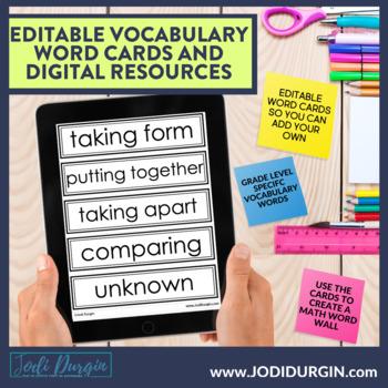 Math Vocabulary THIRD GRADE Games   Journal   Activities