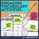 3rd Grade Common Core Math Vocabulary Packet: Journal, Gam