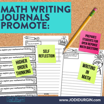 3rd Grade Math Journal Prompts | Math Journals | 3rd Grade Math Centers | CCSS