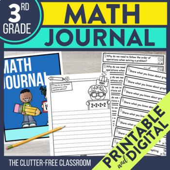 3rd Grade Math Journal Prompts | Math Journals | 3rd Grade