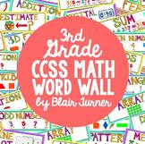 3rd Grade Common Core Math Vocabulary - WORD WALL