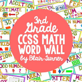 3rd Grade Common Core Math Vocabulary - WORD WALL