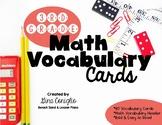 3rd Grade Math Vocabulary Word Wall Cards