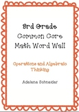 3rd Grade Common Core Math Word Wall Operations & Algebrai