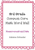 3rd Grade Common Core Math Word Wall Measurement & Data