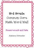 3rd Grade Common Core Math Word Wall Measurement & Data