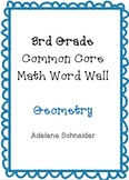 3rd Grade Common Core Math Word Wall Geometry