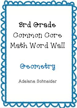 3rd Grade Common Core Math Word Wall Geometry