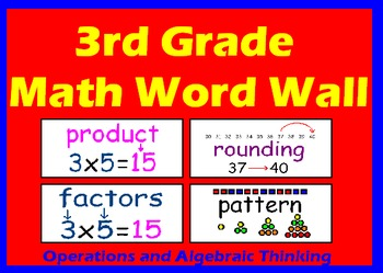3rd Grade Common Core Math Word Wall By Melinda T Tpt