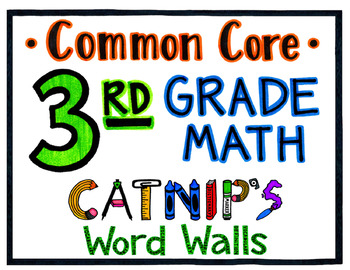3rd Grade Common Core Math Word Wall