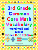 3rd Grade Common Core Math Word Wall and More (Polka Dot Edition)