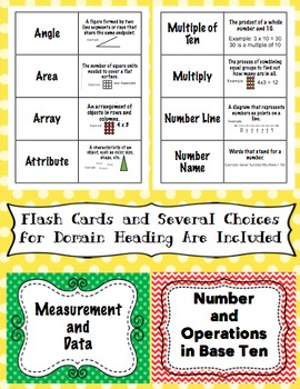 3rd Grade Common Core Math Word Wall and More (Polka Dot Edition)
