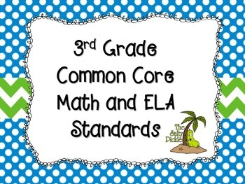 3rd Grade Common Core Math and ELA Standards