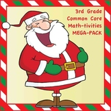3rd Grade Common Core Math Christmas-Themed Interactive Notebook BUNDLE - 75 p