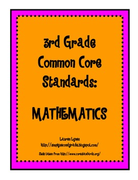 3rd Grade Common Core: Mathematics
