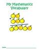 3rd Grade Common Core Mathematics Vocabulary Journal