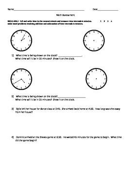 3rd Grade Common Core Measurement Assessment