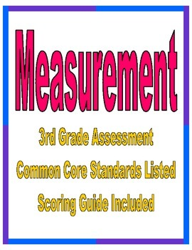 3rd Grade Common Core Measurement Assessment