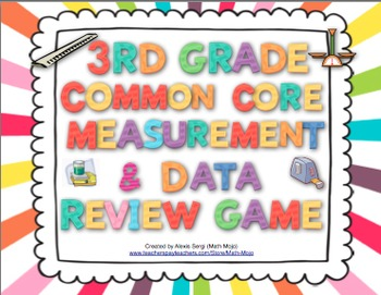 3rd Grade Common Core Measurement and Data Review Game