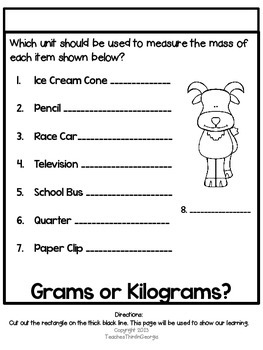 3rd Grade Common Core-Measuring Mass Interactive Flipbook Kit