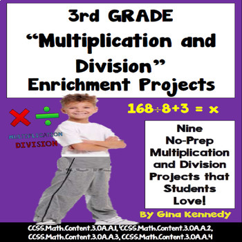3rd Grade Multiplication and Division Problem Solving Enrichment Projects