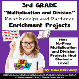 3rd Grade Multiplication & Division Relationships & Patterns Projects+Vocabulary