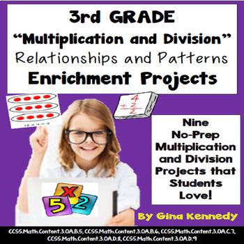 3rd Grade Multiplication Division Relationships Enrichment