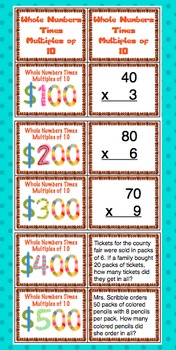 3rd Grade Common Core Number and Operations in Base Ten Review Game