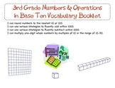 3rd Grade Common Core Numbers & Operation in Base Ten Vocabulary Booklet