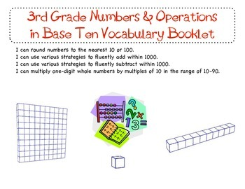 3rd Grade Common Core Numbers & Operation in Base Ten Voca