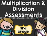 Multiplication and Division Tests 3rd Grade