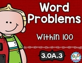 Word Problems Within 100 Math Tasks and Exit Tickets