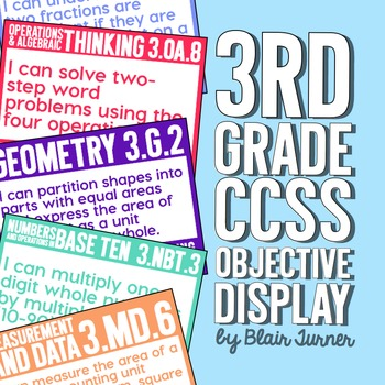 3rd Grade Common Core Objectives