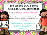 3rd Grade Common Core Objectives Combo Pack {Melonheadz Edition}