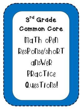 3rd Grade Common Core Open Response Questions