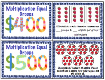 3rd Grade Common Core Operations and Algebraic Thinking Review Game