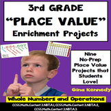 3rd Grade Place Value Projects, Plus Vocabulary Handout