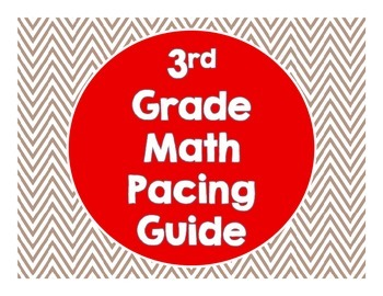 3rd Grade Common Core Math Pacing Guide