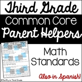 3rd Grade Common Core Math Parent Helper -also in Spanish