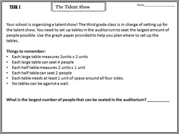 3rd Grade Common Core Performance Tasks