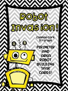 3rd Grade Common Core-Perimeter and Area Robot Designer Creation Kit