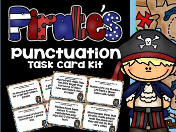 3rd Grade Common Core- Pirate Punctuation Task Card Kit