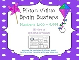 3rd Grade CCSS Place Value Brain Busters Daily Spiral Revi